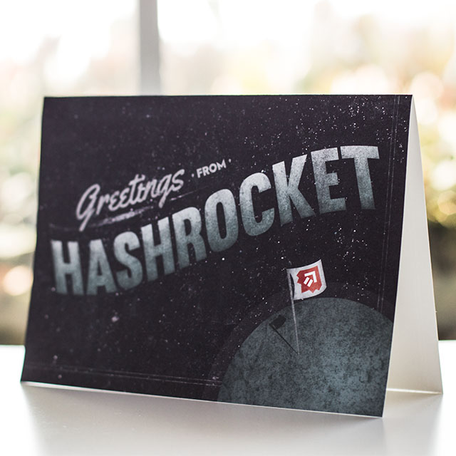Hashrocket greeting card design