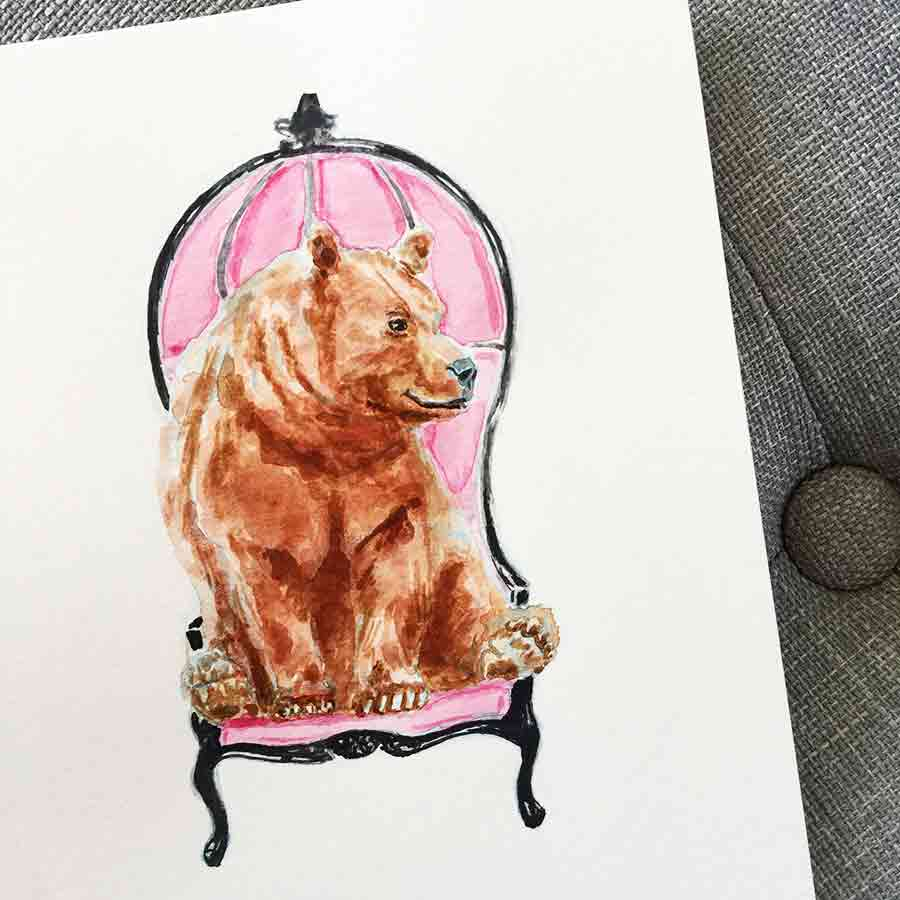 Humphrey the Bear in a chair